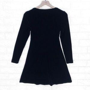BCBG Dresses - BCBG Vintage Velvet 90's Little Black Mini Dress